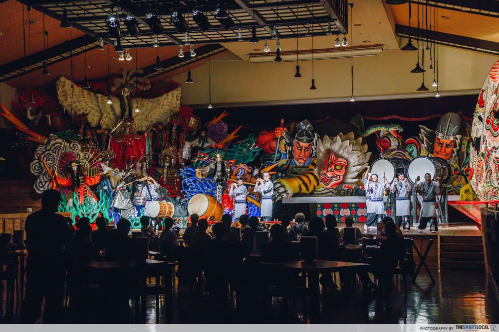 Tohoku Japan - Show Restaurant Michinoku Matsuriya performace float