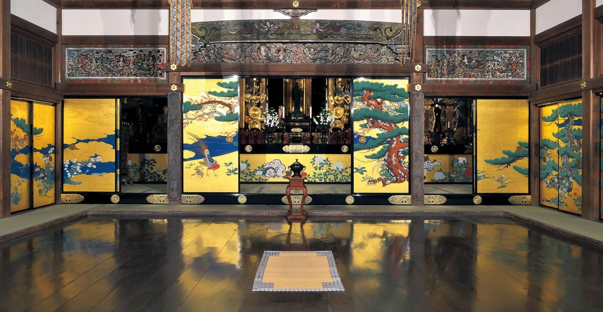 Tohoku Japan -  fusuma zuiganji temple