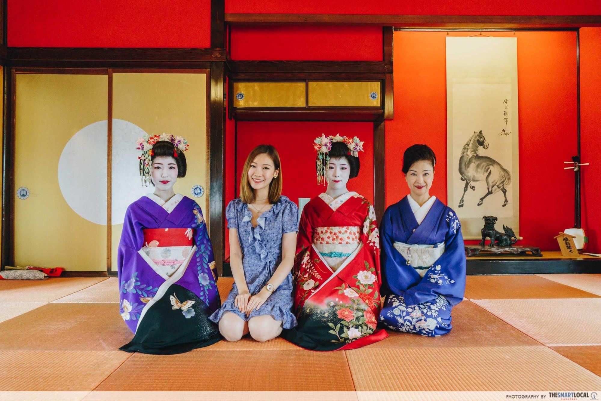 Tohoku Japan -  maiko geisha skata somaro maiko teahouse