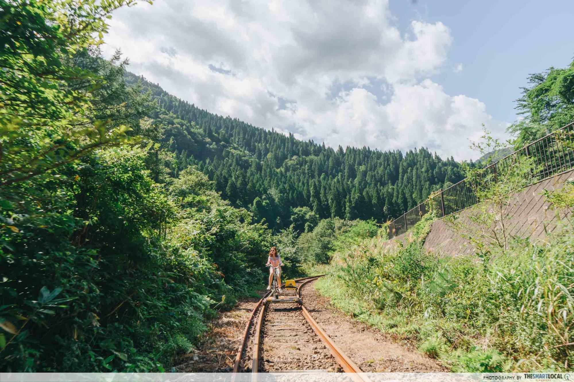 Tohoku Japan - rail bike odate