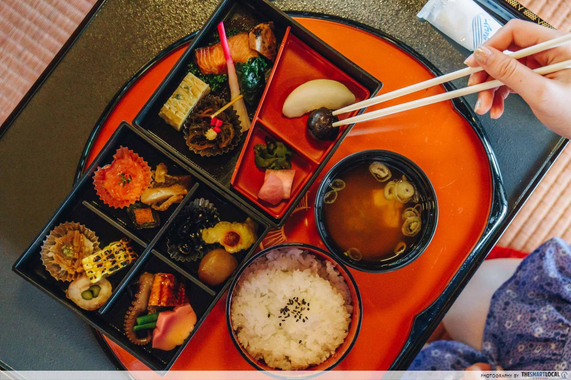 Tohoku Japan -  somaro maiko teahouse bento