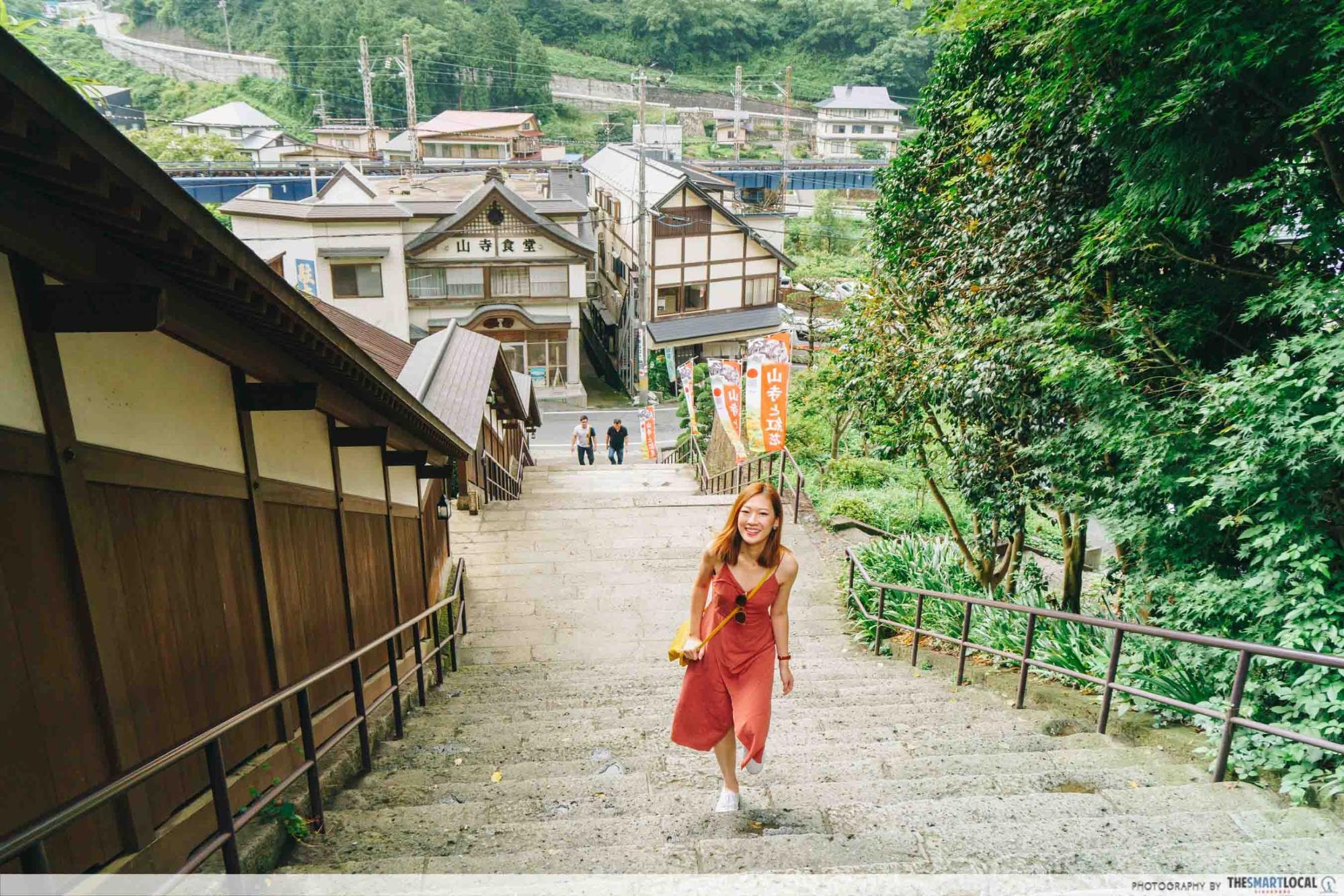 Tohoku Japan - yamadera risshakuji temple steps stairs