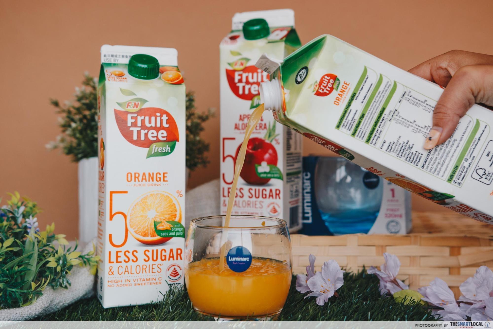 fresh fruit tree juices
