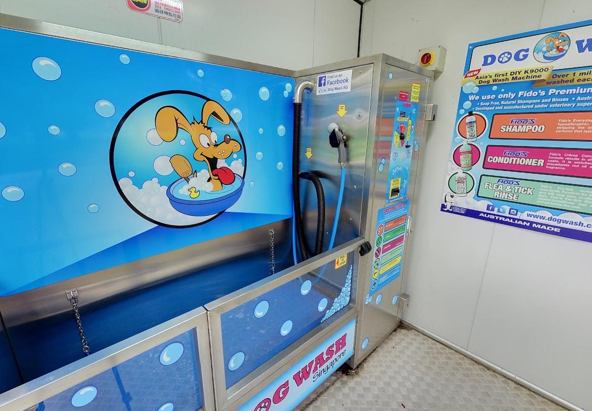 Dog runs Singapore - washing bathing point  booth terminal