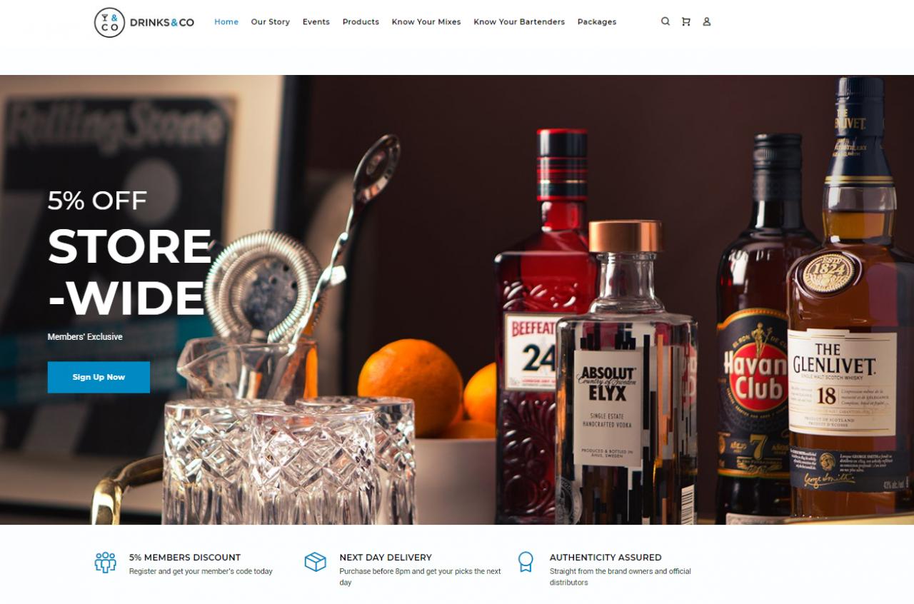 drinks&co website