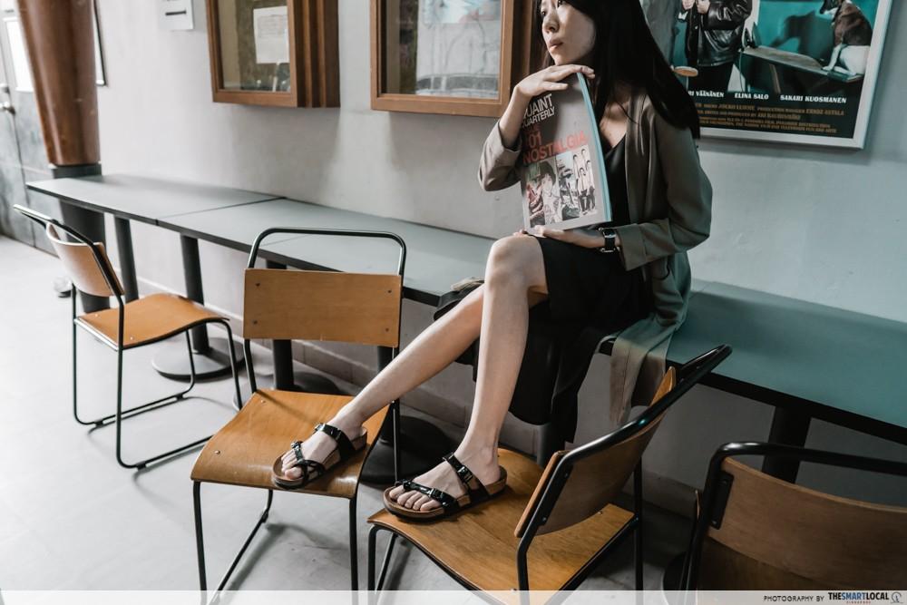 mayari black patent sandals