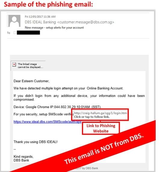 dbs phishing advisory