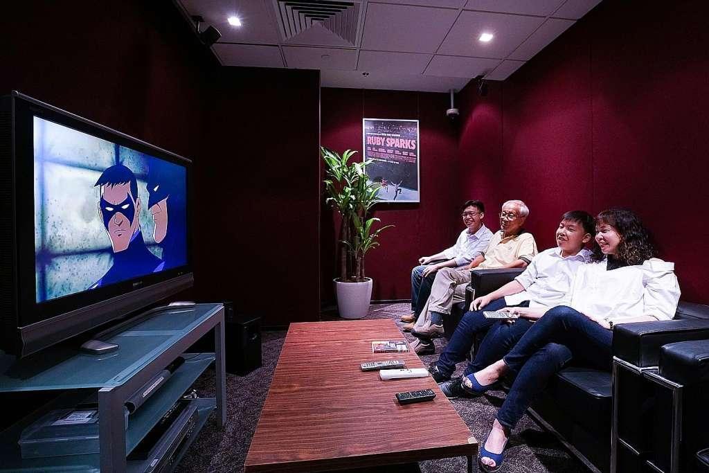 NLB National Library Board facilities - esplanade movie screening room