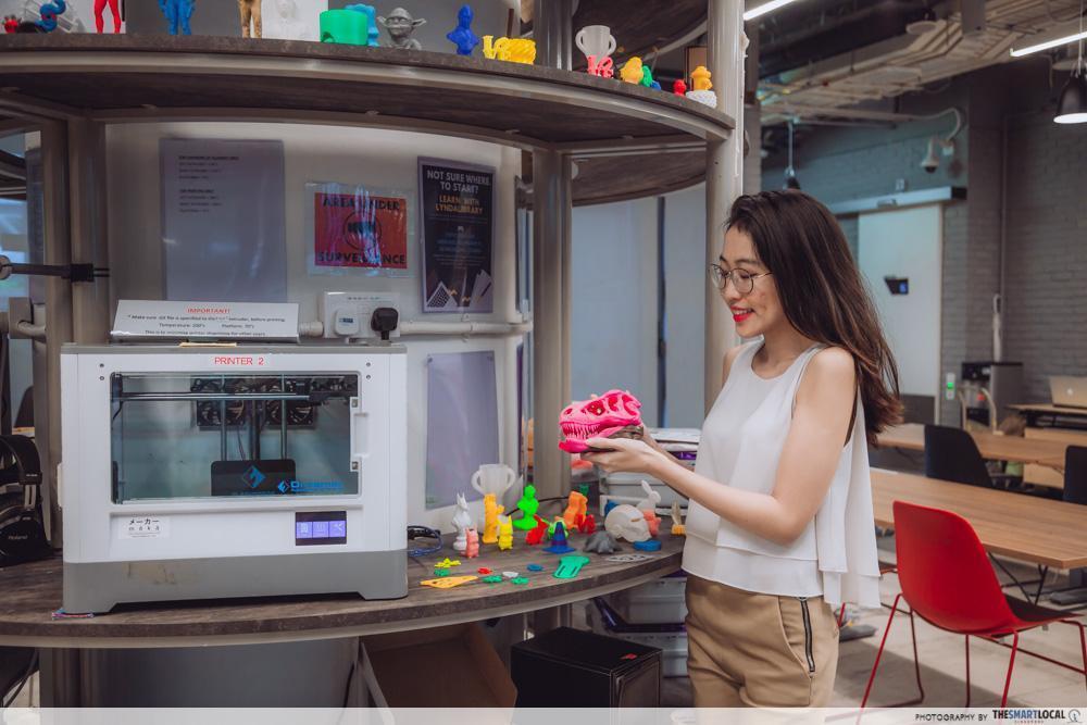 NLB National Library Board facilities - pixel labs 3d printer