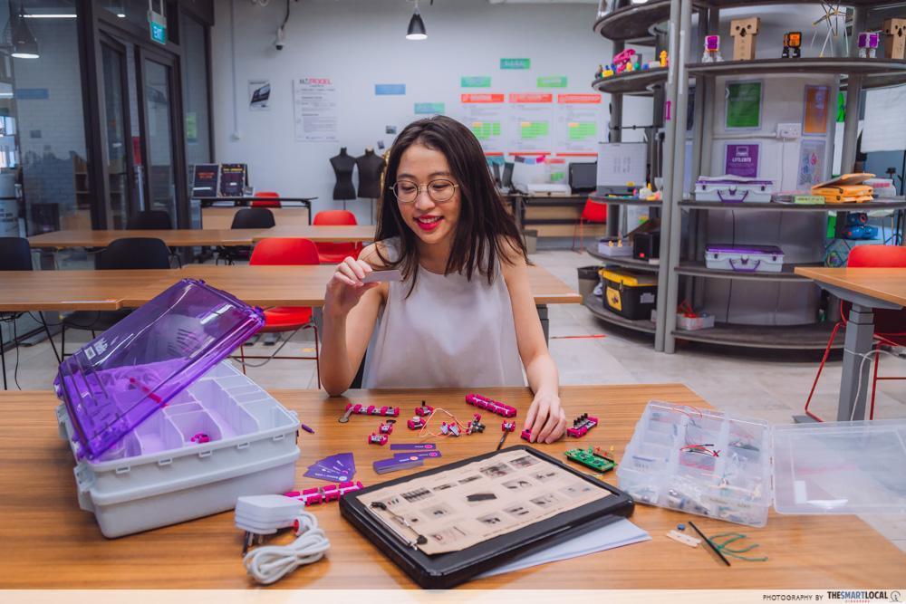 NLB National Library Board facilities - pixel labs imda kits