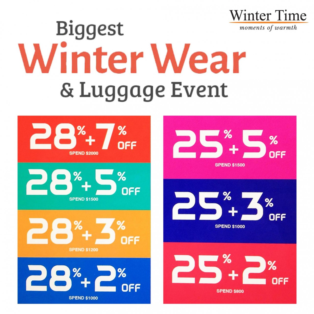 Winter Time Expo Sale
