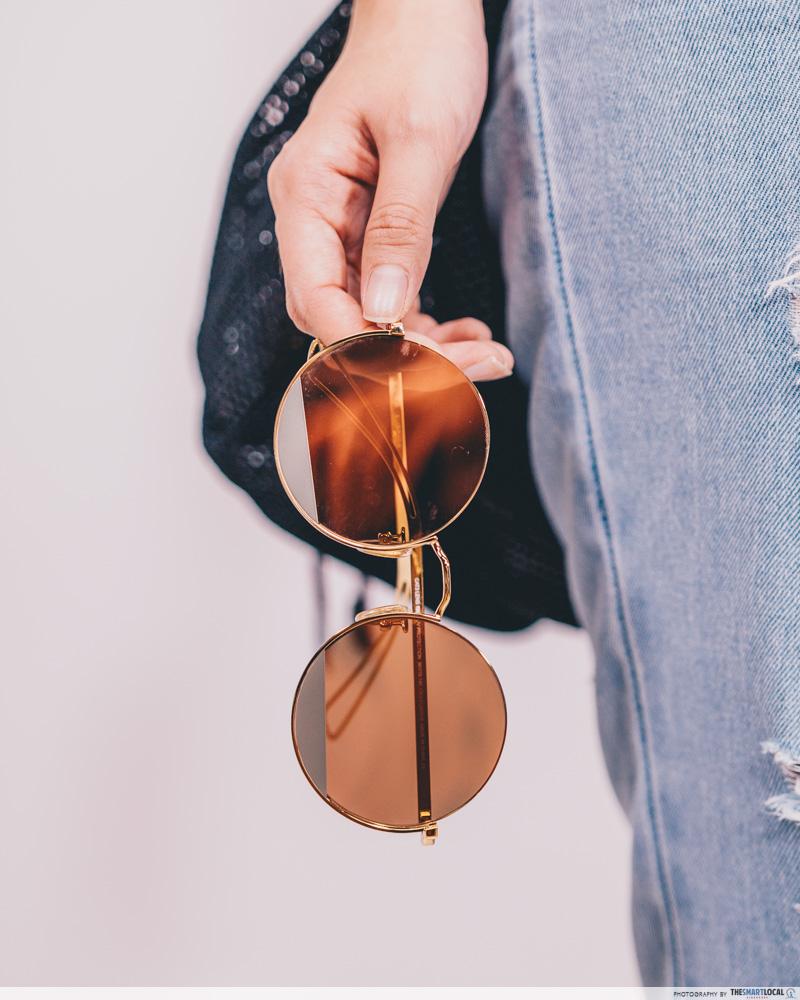 round half frame shades