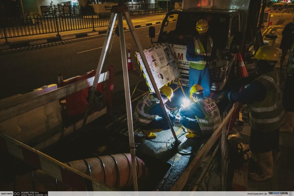 sewage survey technicians