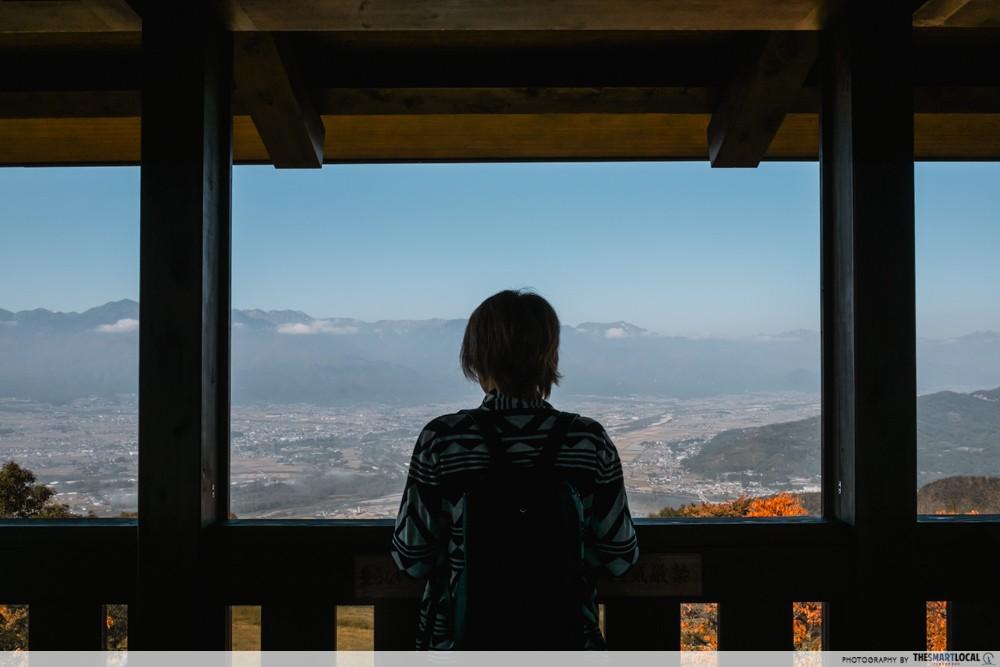 Azumino, Japan - hiking trails to Mt. Nagamine