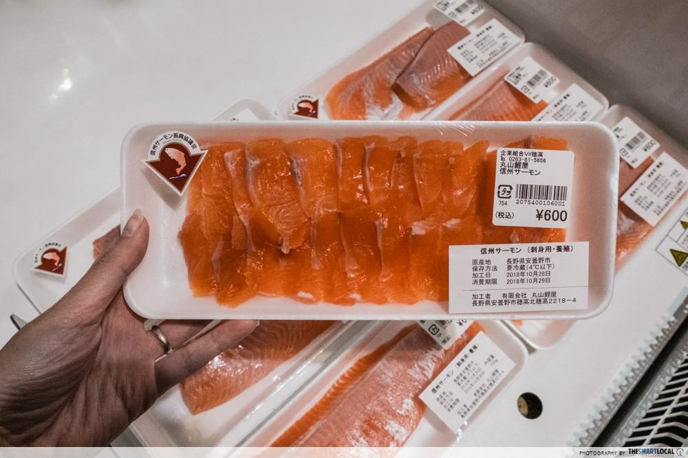 Azumino, Japan - fresh Shinshu salmon sashimi