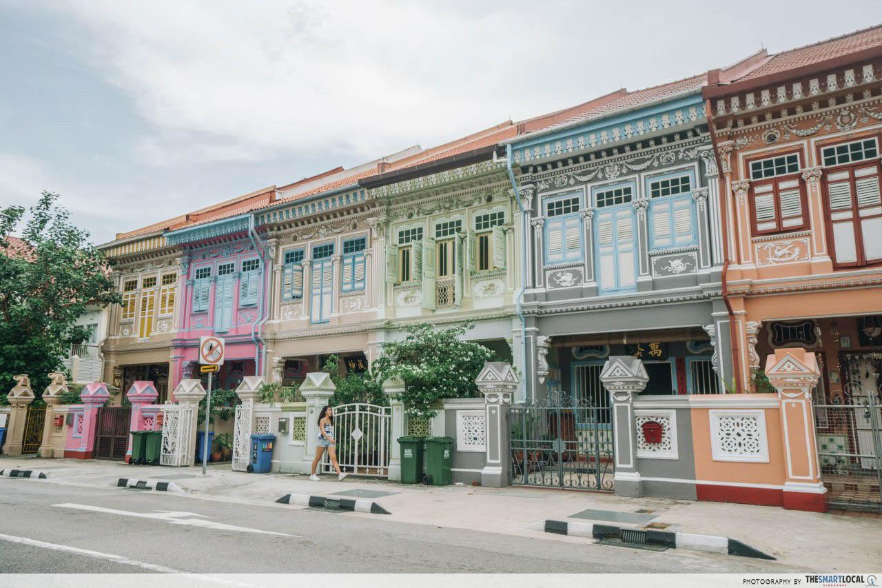 Joo Chiat Katong instawalk - koon seng road pastel houses