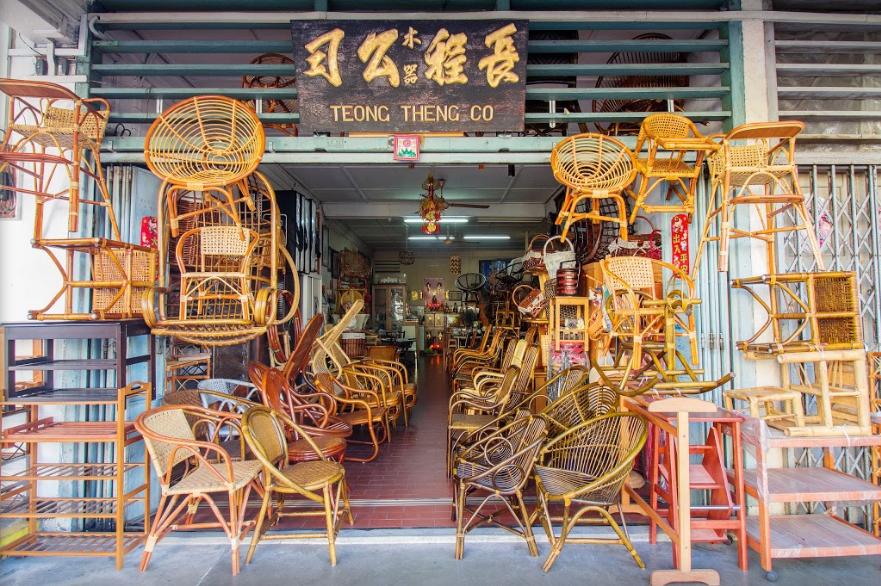 Joo Chiat Katong instawalk - teong theng co rattan shop