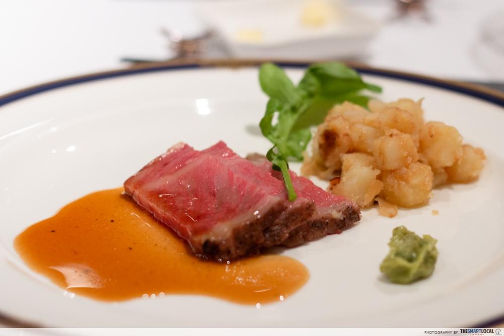 Nagano kamokochi matsumoto guide - Kamikochi Lemeiesta Hotel beef sirlion