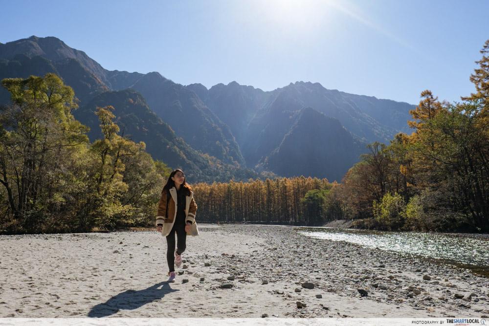 Nagano kamokochi matsumoto guide - azusa river bed