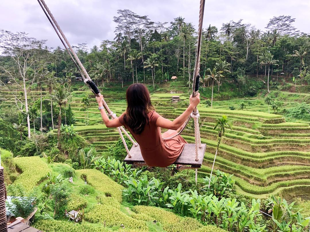 tegalalang rice terrace swing
