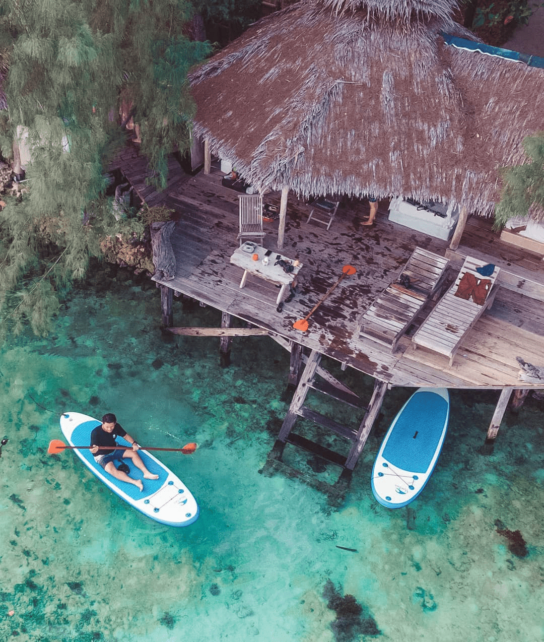 pulau macan house on stilts