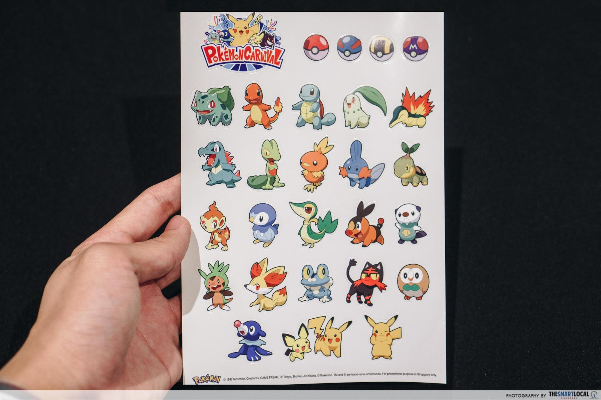 pokemon carnival stickers