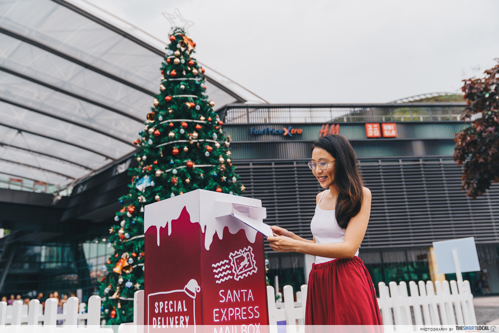 Singapore Sports Hub season of giving - santa express mailbox