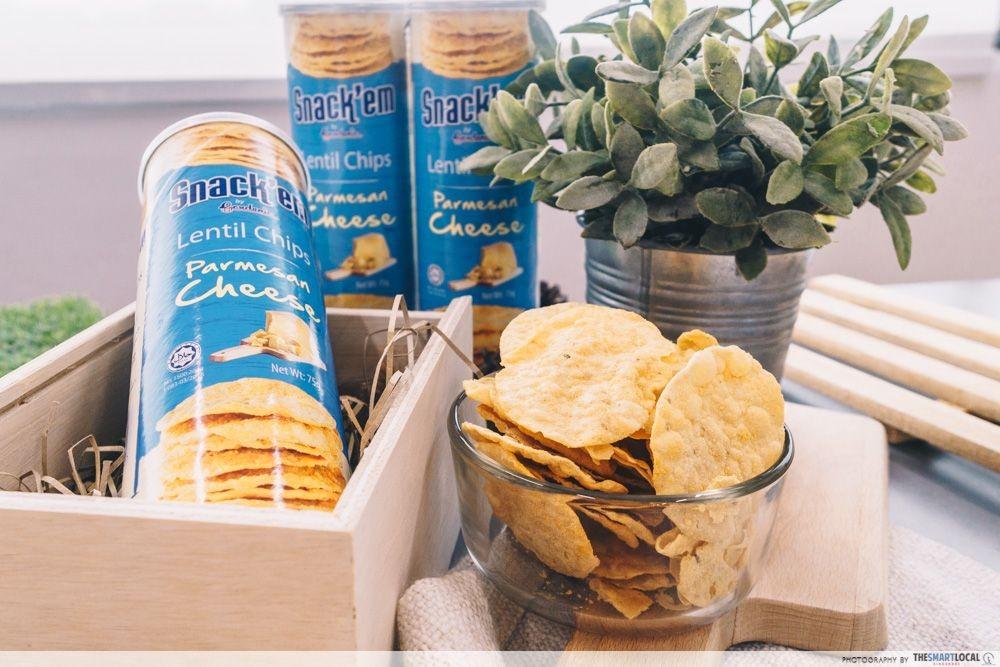 Gardenia Snack'em Lentil Chips Parmesan