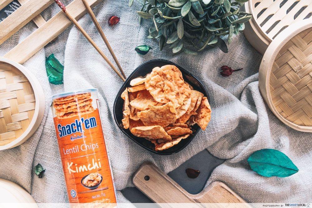 Gardenia Snack'em Lentil Chips Kimchi