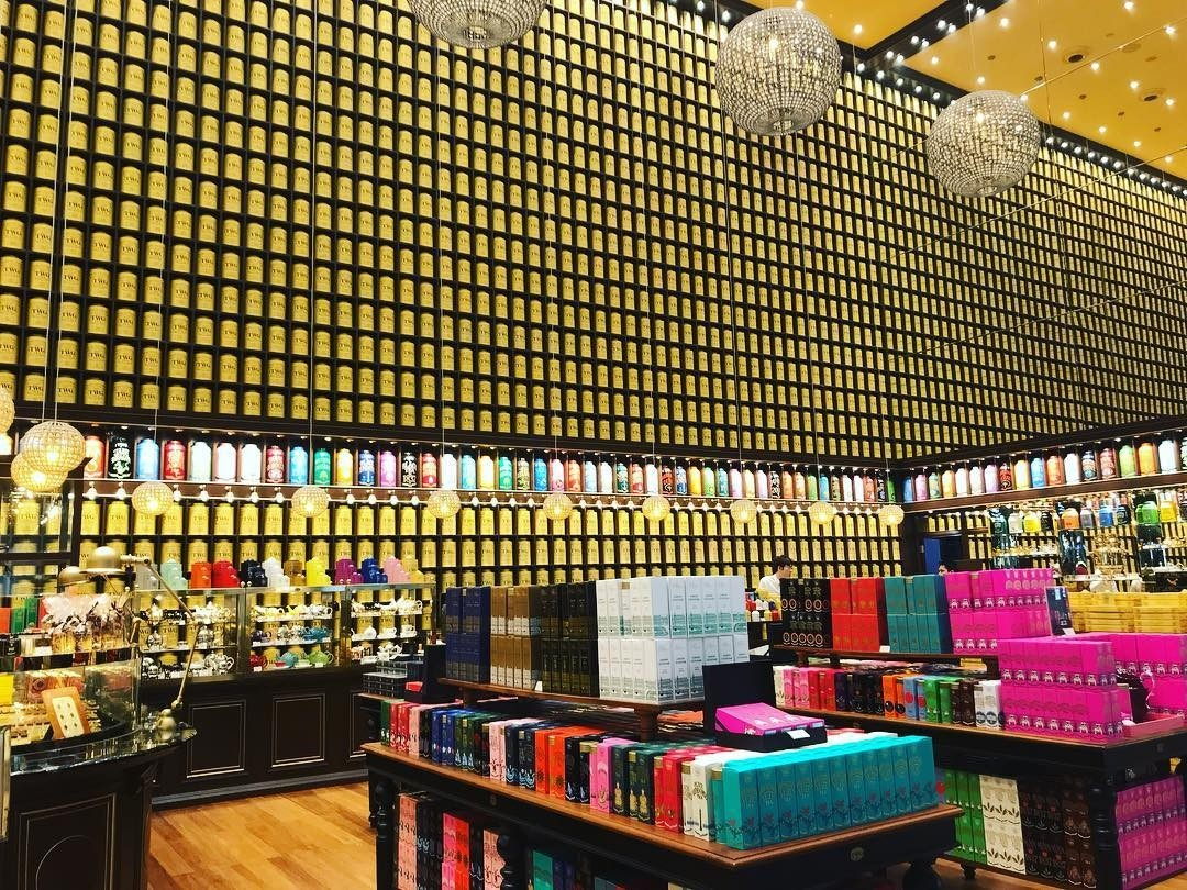 Features in Changi Airport T4 - tea tasting at TWG