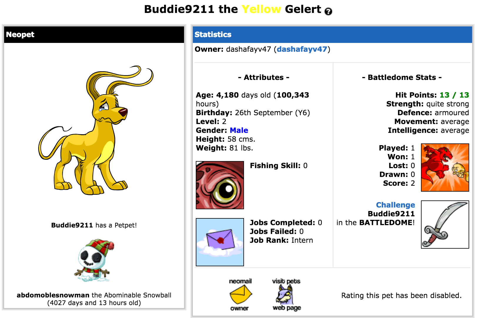 neopets abandoned pet