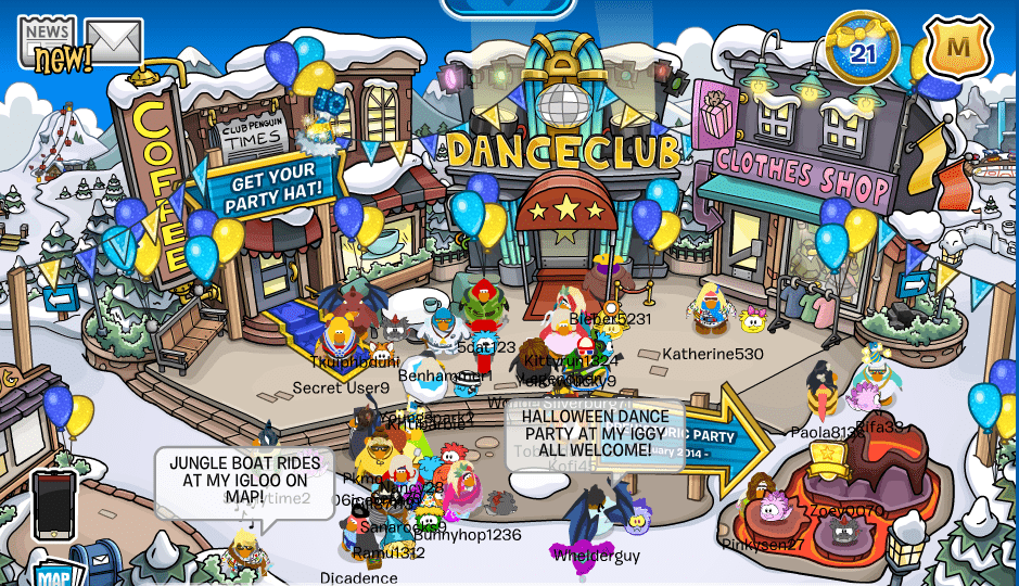 club penguin party