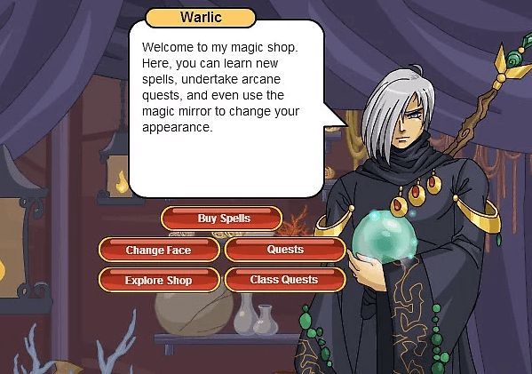 battleon warlic's magic shop