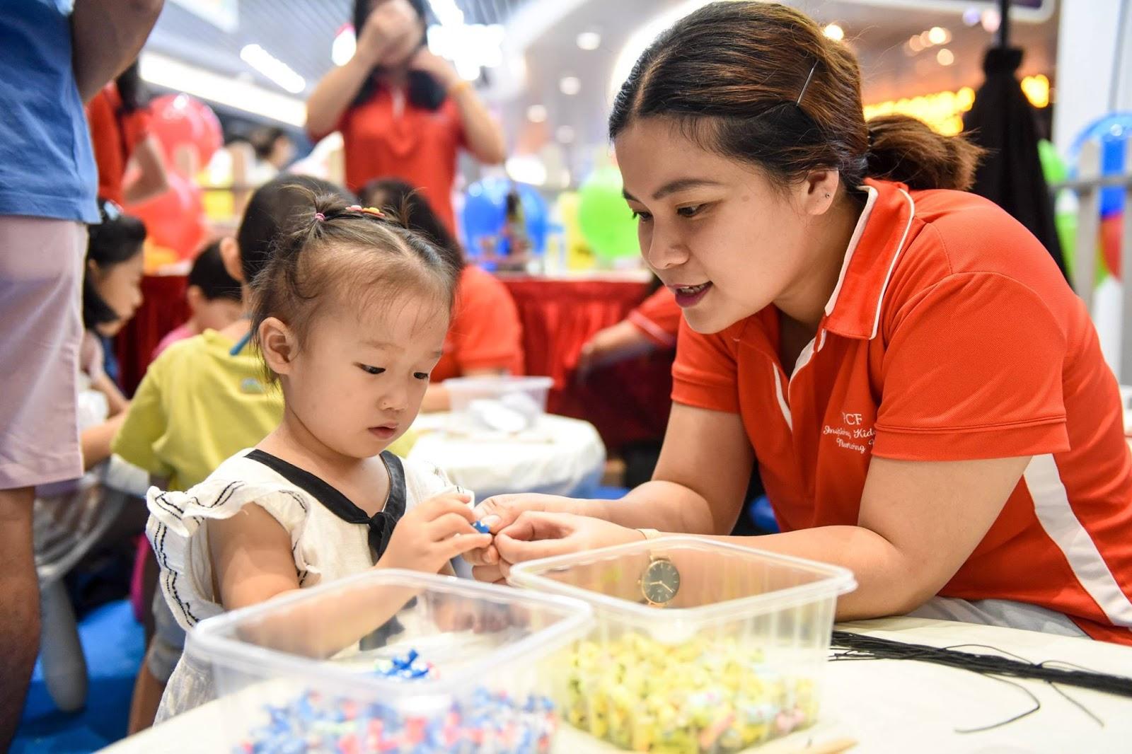 pcf caretaker with child