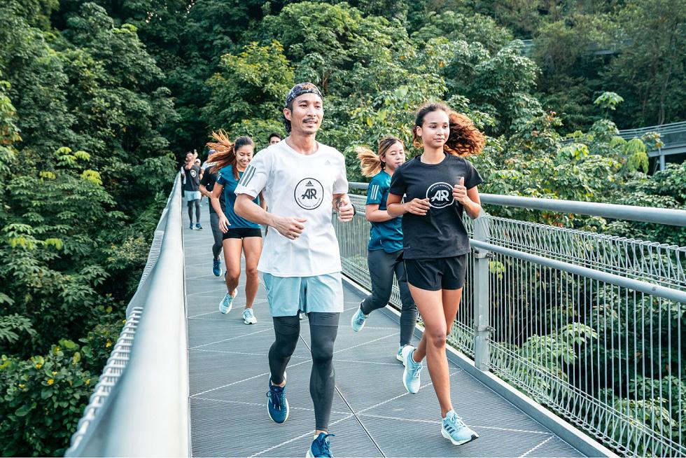 adidas running forest walk