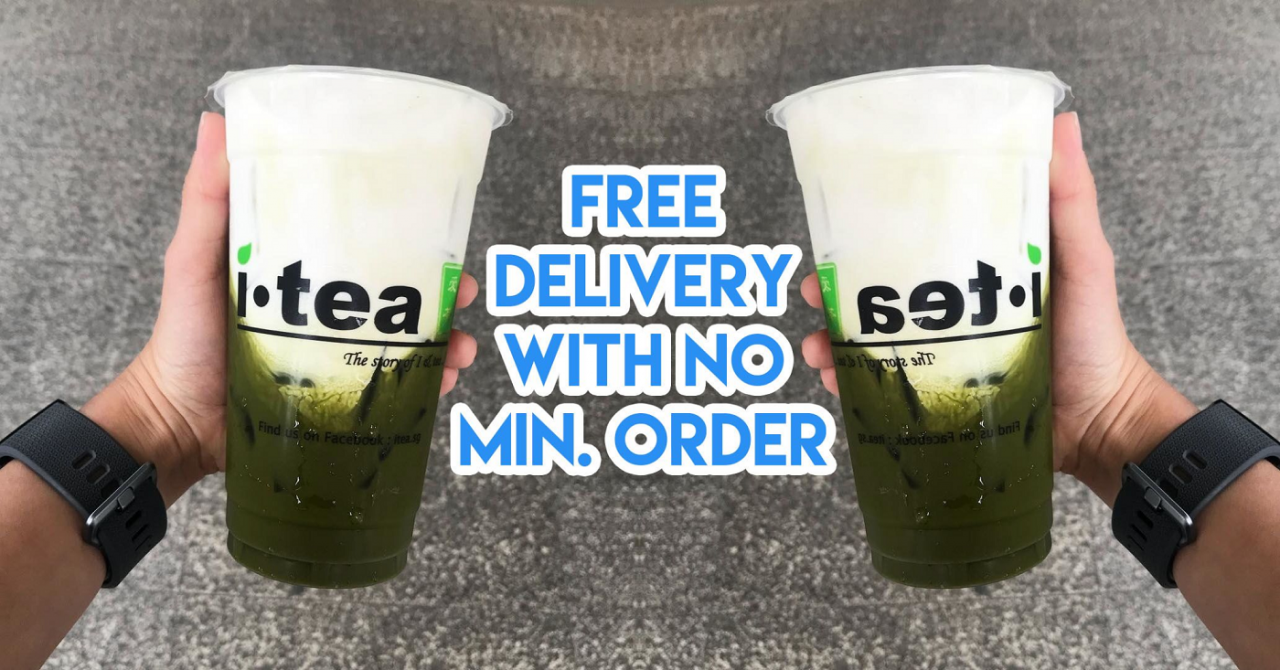 bubble tea delivery singapore free