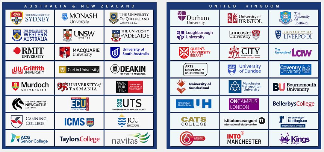 Australia and United Kingdom Universities Study Abroad