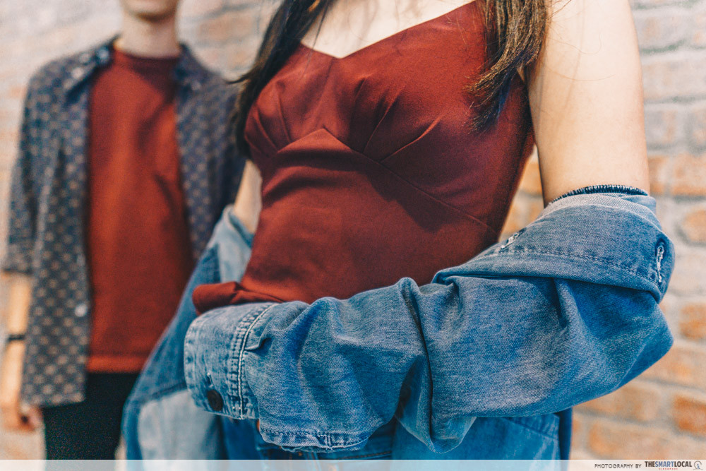 oversized style outerwear denim jacket