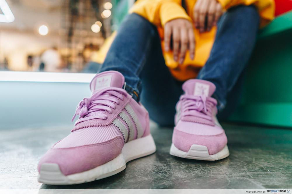 pink sneakers adidas females shoe