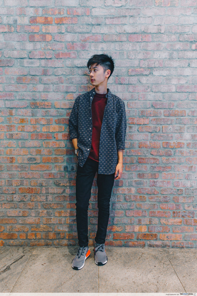 men's ootd outfit for chinese new year street wear