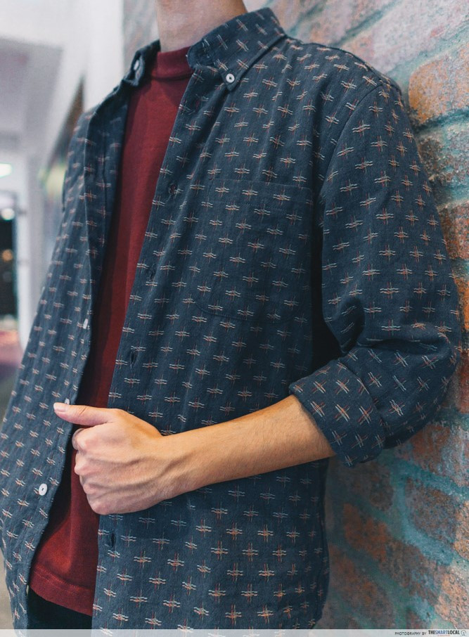 outer shirt with pattern male fashion the denim store