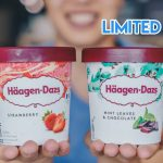 haagen dazs limited edition mint ice cream with chocolate and strawberry