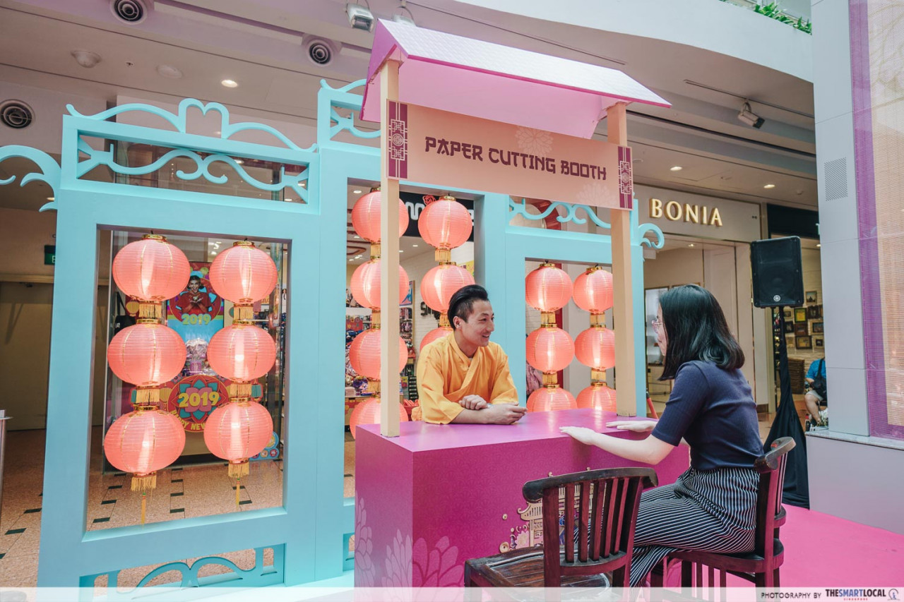 jurong point papercutting booth