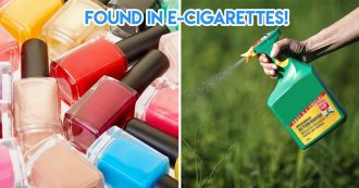 Ingredients found in e-cigarettes