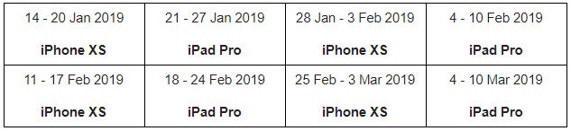 feed your ambition iphone contest dates