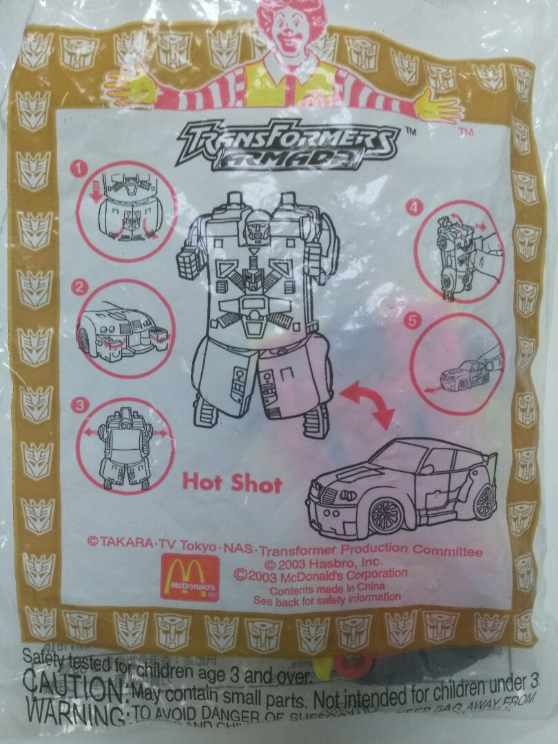 transformers armada singapore happy meal toy