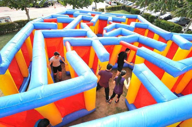 port dickson lexis villa inflatable maze