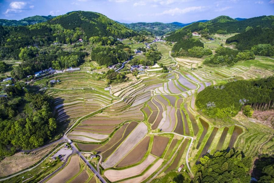 Okayama no tanada rice terraces hiking trail