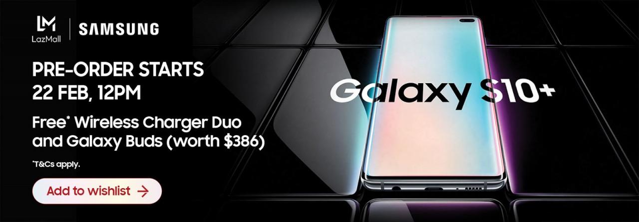 Lazada Samsung Galaxy S10 Pre Order Banner