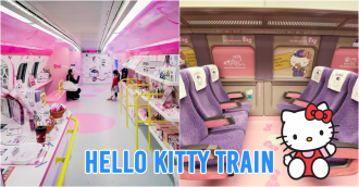 Hello Kitty Shinkansen bullet train